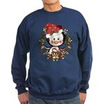 Christmas Penguin Holiday Wreath Sweatshirt (dark)