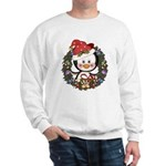 Christmas Penguin Holiday Wreath Sweatshirt