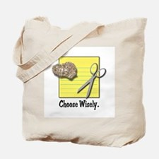 Choose Wisely (Rock Paper Scissors) Tote Bag