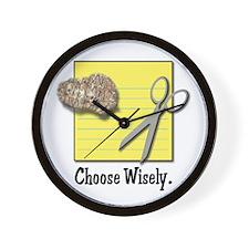 Choose Wisely (Rock Paper Scissors) Wall Clock