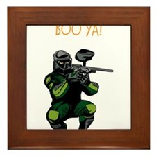 BOO YA Paintballer Framed Tile