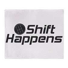 Shift Happens Throw Blanket