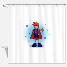 Red Head D-Boy with Pump Shower Curtain