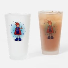 Red Head D-Boy with Pump Drinking Glass