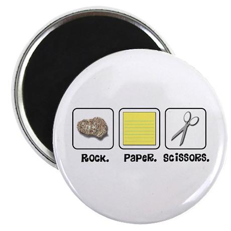 "Rock Paper Scissors 2.25"" Magnet (10 pack)"