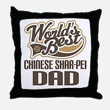 Chinese Shar-Pei Dad Throw Pillow