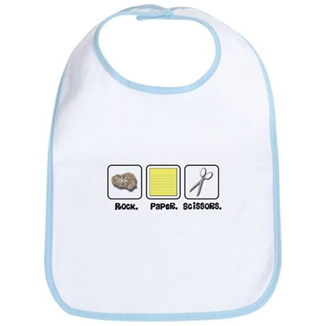 Rock Paper Scissors Bib