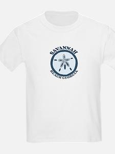 Savannah Beach GA - Sand Dollar Design. T-Shirt