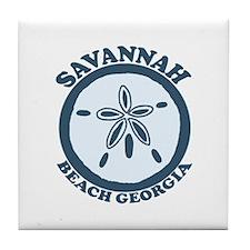 Savannah Beach GA - Sand Dollar Design. Tile Coast