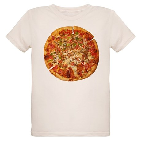 Thank God for Pizza Organic Kids T-Shirt