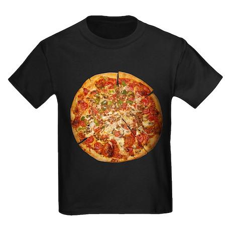 Thank God for Pizza Kids Dark T-Shirt