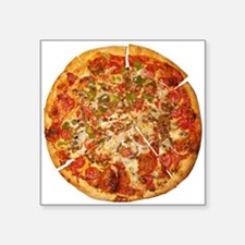 """Thank God for Pizza Square Sticker 3"""" x 3"""""""
