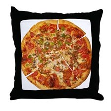 Thank God for Pizza Throw Pillow