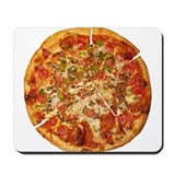 Cheese pizza Mouse Pads