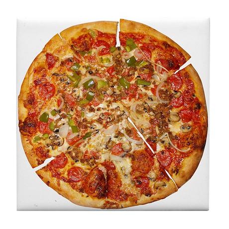 Thank God for Pizza Tile Coaster