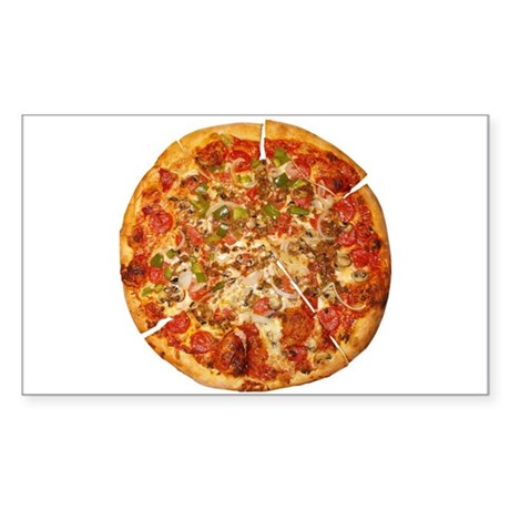 Thank God for Pizza Sticker (Rectangle)