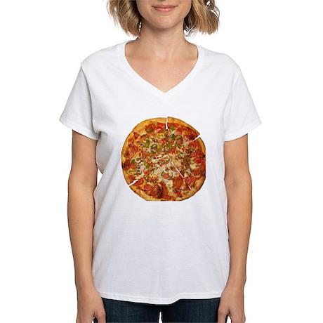 Thank God for Pizza Women's V-Neck T-Shirt