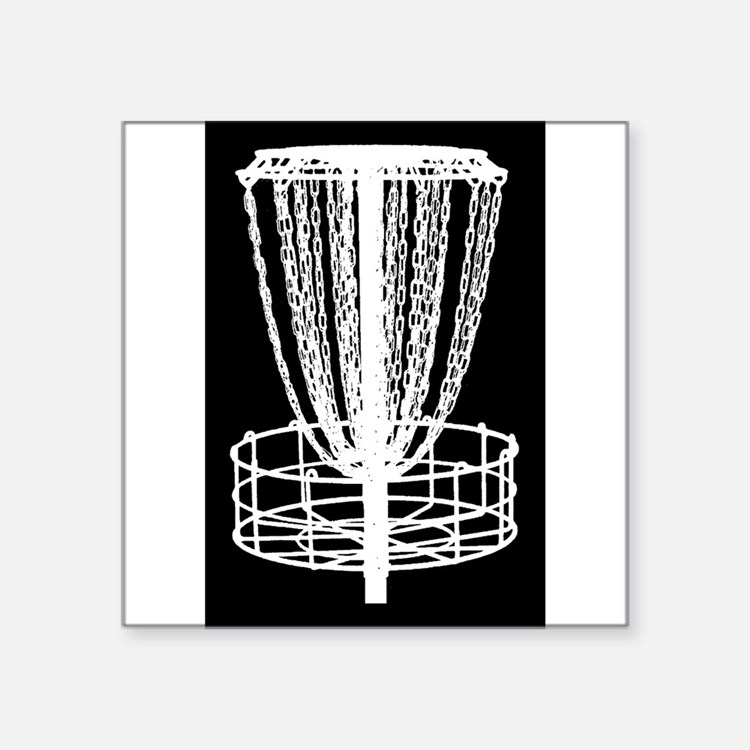 Sticker - Disc Golf Catcher White On Black Sticker