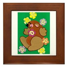 Happy Groundhog Framed Tile