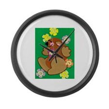 Happy Groundhog Large Wall Clock