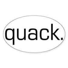 Quack Oval Decal