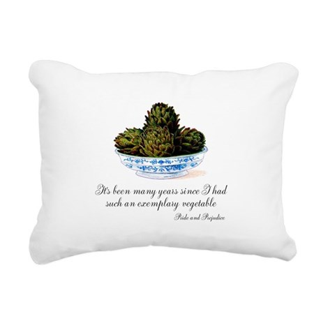 Exemplary Vegetable Rectangular Canvas Pillow