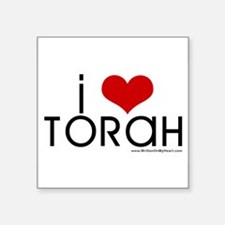 """I Love Torah"" Rectangle Sticker"