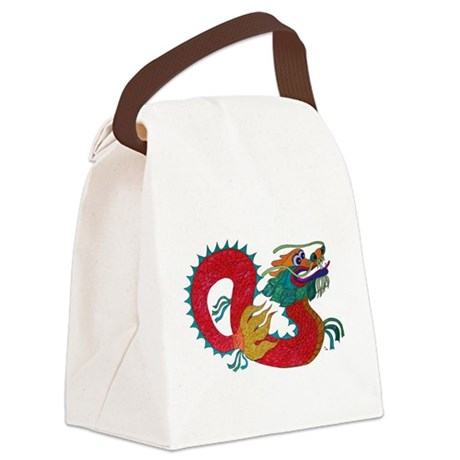 dragon1c.png Canvas Lunch Bag