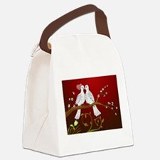 Love Birds Canvas Lunch Bag