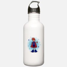 Red Head D-Boy with Insulin Pump Water Bottle