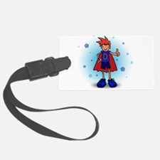 Red Head D-Boy with Insulin Pump Luggage Tag