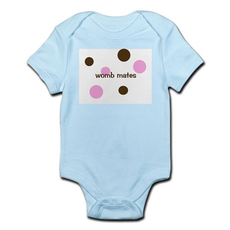 Womb Mates- for twin girls, Infant Creeper Body Su