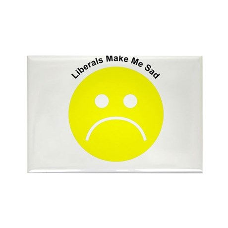 Liberals Make Me Sad Rectangle Magnet (100 pack)
