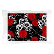 Cool Kids Skulls and Roses Designs Pillow Case