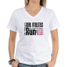 Real Athletes Run - Female T-Shirt