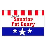 Senator Geary - Rectangle Sticker
