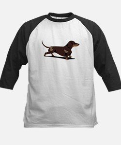 Short-haired Dachshund Kids Baseball Jersey
