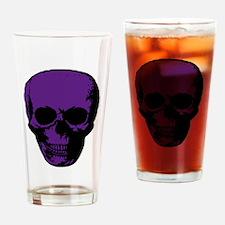 Purple Scary Skull Drinking Glass