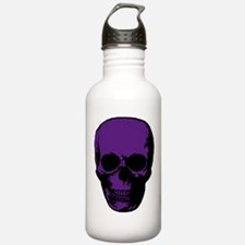 Purple Scary Skull Water Bottle