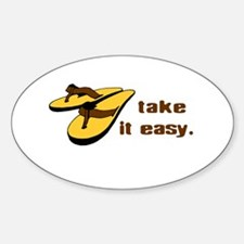 Take it easy - Beach Life Oval Stickers