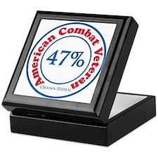 47% Combat Veteran Keepsake Box