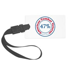 47% Combat Veteran Luggage Tag