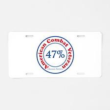 47% Combat Veteran Aluminum License Plate