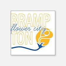 "Brampton Flower City Square Sticker 3"" x 3"""