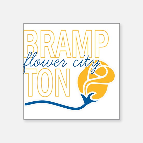 "Brampton Flower City Square Sticker 3"" x 3"""