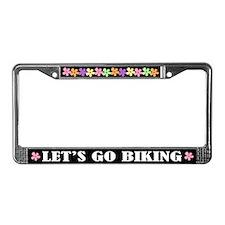 Biking License Plate Frame