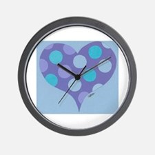 Blue Dotty Wall Clock