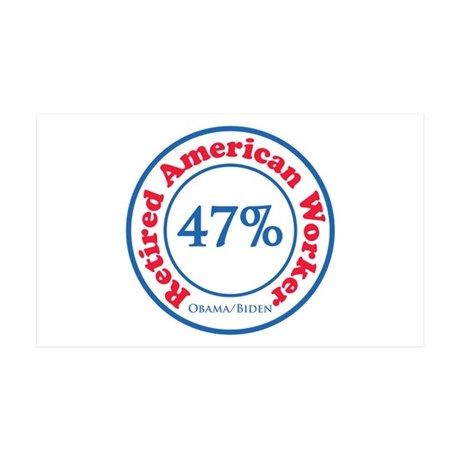 47% Reitred American 35x21 Wall Decal