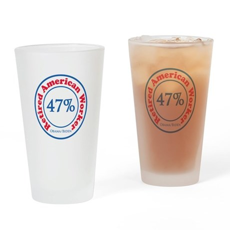 47% Reitred American Drinking Glass