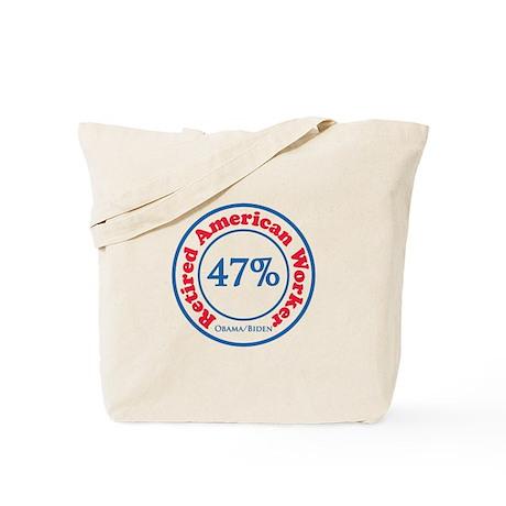 47% Reitred American Tote Bag